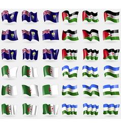 Saint Helena Western Sahara Algeria Bashkortostan vector