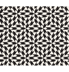 Seamless black and white geometric vector