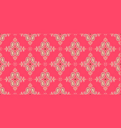 seamless pattern based on ornament paisley bandana vector image