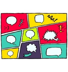 Set dynamic comic speech bubbles different emotion vector image