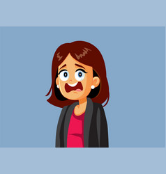 shocked business woman reacting to news vector image