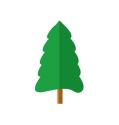 Simple round pine christmas tree vector