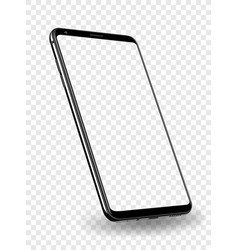 smartphone mockup transparent screen vector image