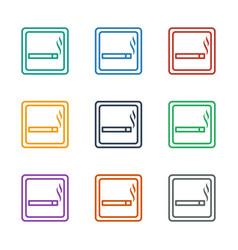 Smoking area icon white background vector