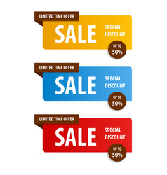 Special offer sale banner for your design vector