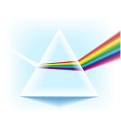 spectrum prism with light dispersion effect vector image