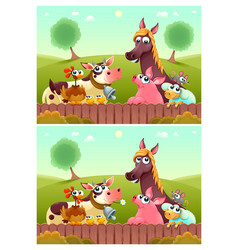 Spot differences vector