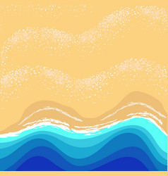 summer landscape with waves and sand vector image