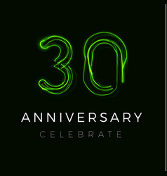 Thirty anniversary poster for party 30th years vector