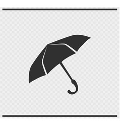 umbrella icon black color on transparent vector image