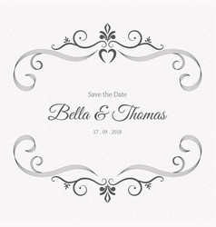 vintage gray luxury invitation card minimal vector image