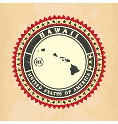 vintage label-sticker cards hawaii vector image