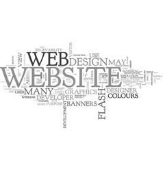 web design myths text word cloud concept vector image