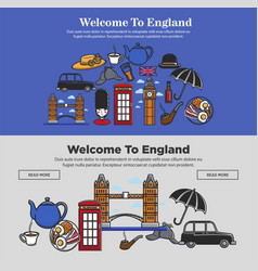 welcome to england promotional banner with vector image