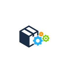 wheel box logo icon design vector image