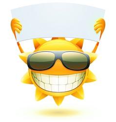 Cartoon sun character vector