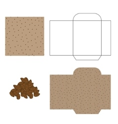 Flax seeds packaging design kit recycled paper vector