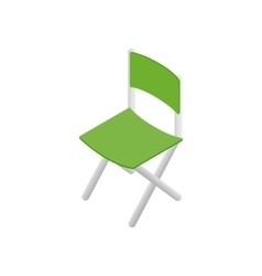 Green chair isometric 3d icon vector image