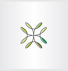 natural green leaves design element vector image