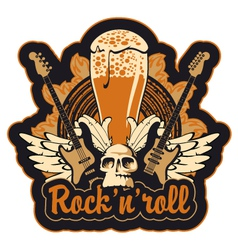 Rock n toll and beer vector image vector image