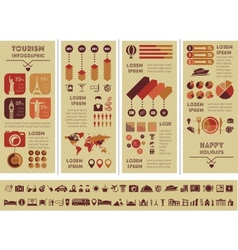 Travel Infographic Template vector image vector image