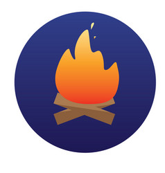 campfire with firewood icon of for vector image vector image