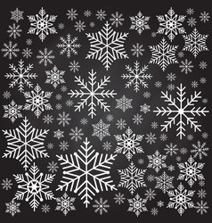 snowflakes seamless background pattern vector image vector image