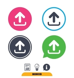 Upload sign icon Load symbol vector image vector image