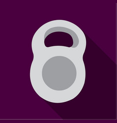 weight icon flate single sport icon from the big vector image