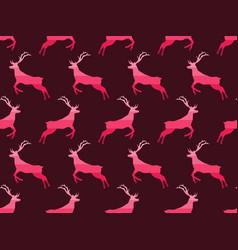deer seamless pattern christmas background vector image