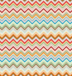 Dots and zig zag lines background vector image vector image