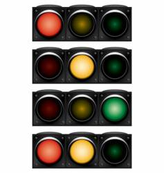Horizontal traffic-light vector