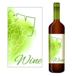 labels for white wine vector image vector image