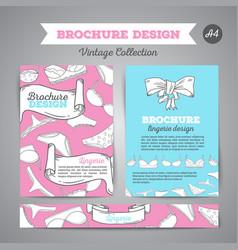 lingerie brochure underwear background vector image vector image