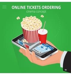 Online cinema tickets ordering Concept order food vector image