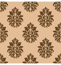 Retro dark beige or brown seamless pattern vector image vector image