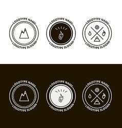 Set of outdoor adventure expedition tourism logo vector image vector image