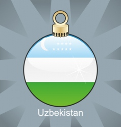 Uzbekistan flag in bulb vector image vector image