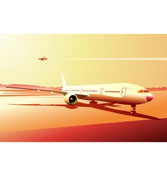 vector illustration of a detailed airplane on the vector image