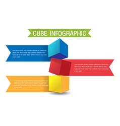 Cube Color Info Graphic Template vector image vector image