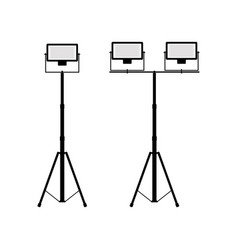 icons of twin and divided searchlights vector image