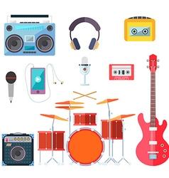 Musical instruments Flat design vector image