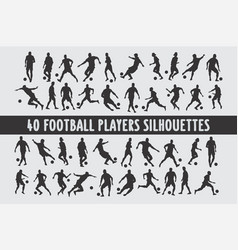 20 soccer playing footbal various design set vector image