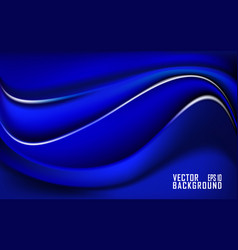 abstract blue wave abstract design for business vector image
