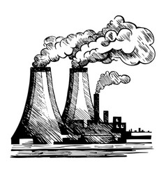 air ecology and problem air pollution vector image
