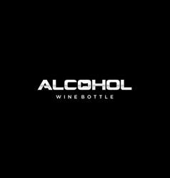 Alcohol text typography wordmark logo design vector