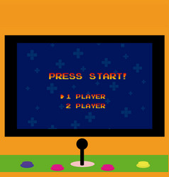 Arcade screen and gamepad vector