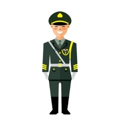 Army of China Flat style colorful Cartoon vector image