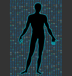 Artificial intelligencesilhouette of a human body vector