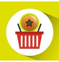 Basket market papaya icon design vector